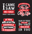 funny quote and saying set good for print vector image