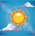 funny sun shine clouds sky light vector image vector image