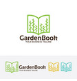 garden book logo design vector image