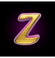 golden and pink letter z vector image vector image