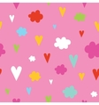 Hand drawn hearts and clouds seamless vector image vector image