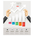 hand holding a paper cut infographics vector image vector image