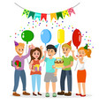 happy birthday happy company vector image vector image