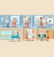 healthcare ophthalmology horizontal banners vector image vector image