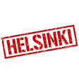 Helsinki red square stamp vector image vector image