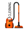 Housekeeping background with vacuum cleaner Image vector image