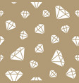 jewelry seamless pattern diamonds line vector image