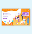 landing page business website promotion in vector image