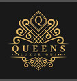 letter q logo - classic luxurious style logo vector image vector image