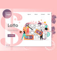 lotto website landing page design template vector image vector image
