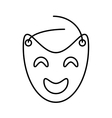 mask theater graphic outline vector image vector image