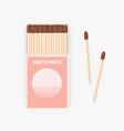 matchbox modern design and pair wooden vector image