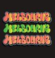 melbourne australia urban label sign logo hand vector image
