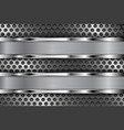 metal perforated background with shiny stainless vector image vector image
