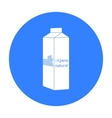 Milk gable top carton package icon in black style vector image vector image