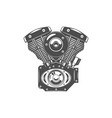 monochrome of motorcycle engine vector image vector image