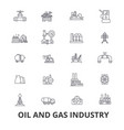 oil and gas industry rig platform exploration vector image vector image