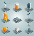old age gradient isometric icons vector image vector image