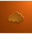 Orange eco glossy glass cloud icon vector image vector image