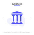 our services user bank cash solid glyph icon web vector image vector image