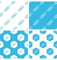 Paperclip patterns set vector image vector image