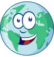planet earth cartoon character vector image vector image