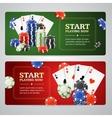 Poker Casino Banner Set vector image vector image