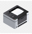printer icon isometric style vector image vector image