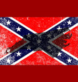 rebel civil war flag with north carolina map vector image