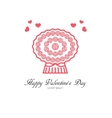 Romantic bouquet card design vector image