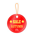 sale autumn -5 sticker on vector image