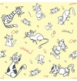 seamless cat pattern vector image vector image