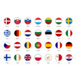set flags european union big vector image