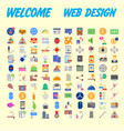 set of icons quality universal pack big icon vector image vector image