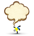 Soccer icons character with Speech Bubble vector image