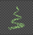 stylized green christmas tree as symbol of happy vector image