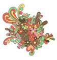 tangle pattern ornament blossom vector image vector image