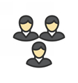 Teamwork Outline Icon vector image vector image