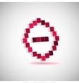 three-dimensional shape pixel style minus vector image