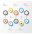trade flat icons set collection of hierarchy vector image vector image