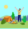travel camping vector image vector image