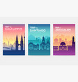 travel information cards landscape template of vector image