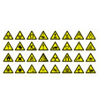 warning signs large set safety in workplace vector image vector image