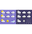 weather forecast icon set in vector image