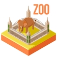 Zoo Elephant isometric icon vector image vector image