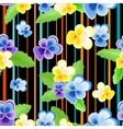 Colorfulseamless pattern with pansies-01 vector image