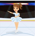 Figure skating competitions among fans vector image
