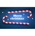 Traditional christmas candy candy top view vector image