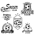Vintage emblems labels Football icons Soccer vector image