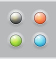 glossy buttons with metal elements design for vector image